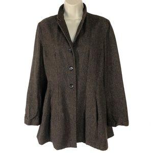 Lilith Wool Frock Coat w/ Ruffles